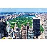 GREAT ART® XXL Póster – Central Park – Ciudad De Nueva York Parque Promenade America Paisaje Park Ciudad Principal East River USA Cartel Decoración Y Foto (140 X 100 Cm)
