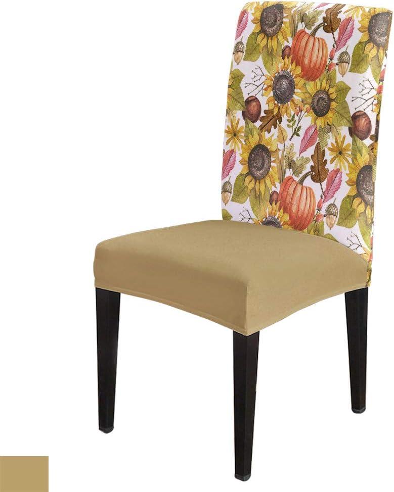 Autumn Theme overseas Dining Chair Slipcover 8Pcs Pr Super-cheap Seat Cushion Stretch
