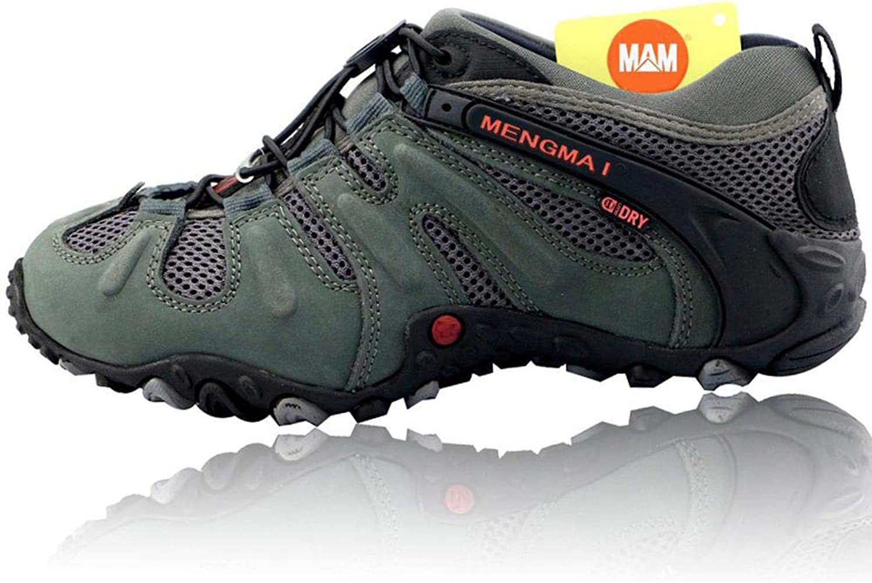 QIKAI Hiking skor Män's Four Four Four Seasons Casual skor utomhus gående skor Mask Andable skor, for Hiking springaning Trail klättringaa utomhus  billigaste