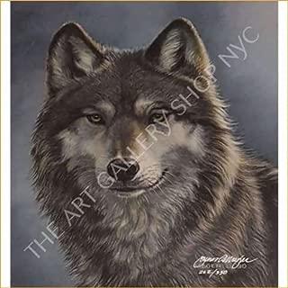 JAMES MEGER Alpha Cameo Timberwolf 1990 Original Lithograph S|N