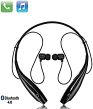 SHOPTOSHOP Bluetooth Wireless Headphones Sport Stereo Headsets Hands-Free with Microphone and Neckband for Android and Apple Devices (Multi Colored) (Standard)
