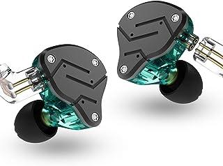 Kz Zsn Headset tecnologia ibrida 1BA + 1DD HiFi Bass auricolari in Ear monitor sport cuffie con isolamento acustico Senza microfono Cyan