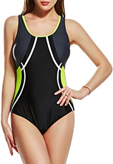 TieNew Women Swimwear,Women's Plus-Size Striped Bikini Sets One Piece Padded Swimsuits Swimdress Monokini Beachwear Swimmi...