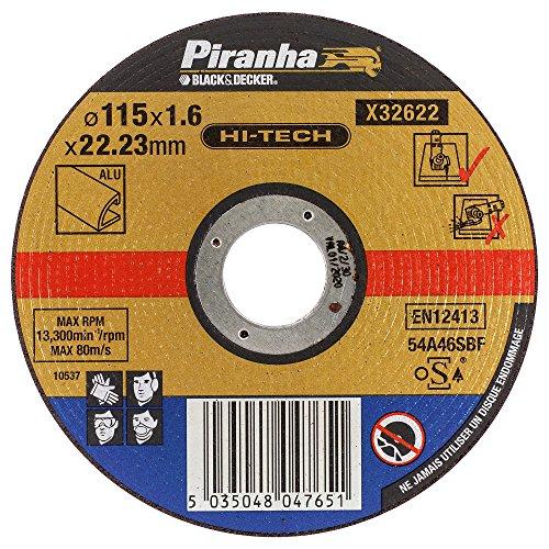 Piranha Trennscheibe (extra dünn, Alu, Durchmesser 115 mm) 1 Stück, X32622