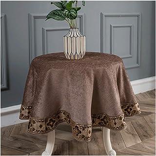Gamvdout Élégant et Simple Table Tableau Tissu Couleur Solide Grande Table Ronde Table Basse Table Basse Coussin Tissu Tis...