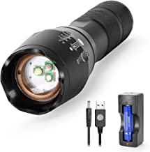 Red Green White Light 3in1 LED Torch, Multi Colour RGB Flashlight Powerful Bright 1000lm Tactical Zoomable Torch w' 18650 ...