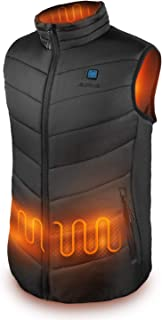 IUREK Electric Heated Vest, Lightweight Insulated Heating Vest Rechargeable Heated Clothing for Men Black