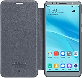 NILLKIN Sparkle - Carcasa Tipo Funda Libro Protectora para Huawei Nova 2S - Negro