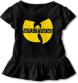 Wu Tang Clan Little Girls 2-6 Years Cotton Falbala, Kids Fashion Blouse Clothes with Flounces