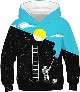 Niños Sudaderas con Capucha 3D Impreso Hoodies Sweatshirt Bolsillos de Mangas Largas