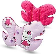 Bebé Mariposa Apoyo Pillow Antishake Soporte Cabeza para Coche Asiento Silla de Paseo - Rosa- Hello Kitty