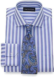 Men's Classic Fit Non-Iron Supima Cotton Satin Stripe...
