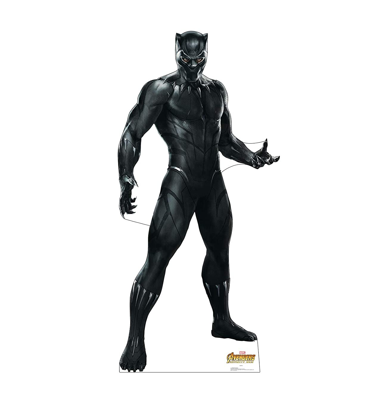 Advanced Graphics Black Panther Life Size Cardboard Cutout Standup - Marvel's Avengers: Infinity War (2018 Film)