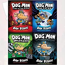 dog man collection dav pilkey books set - a tale of two kitties[hardcover], dog man, unleashed, dog man and cat kid[hardcover]