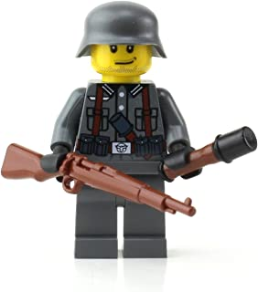 Battle Brick German Kar98 WW2 Soldier (SKU16) Custom Minifigure