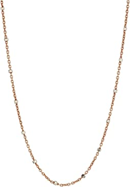 Chan Luu - Sterling Silver Dainty Necklace with Crystal Beading