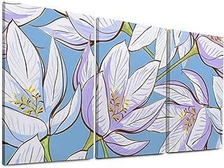 NOAON Wall Art Original Beautiful Flower Ready to Hang Painting 20x30inchx3pcs 3 Panel Gift Canvas Print Giclee Print