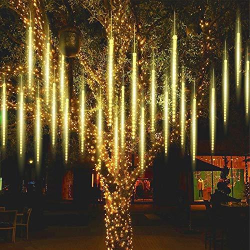 Aunus Meteorschauer Regen Lichter,50cm 10 Spirale Tubes wasserdichte Schneefall Lichterkette für Draussen Innenraum Garten Hochzeit Party Weihnachten Dekoration