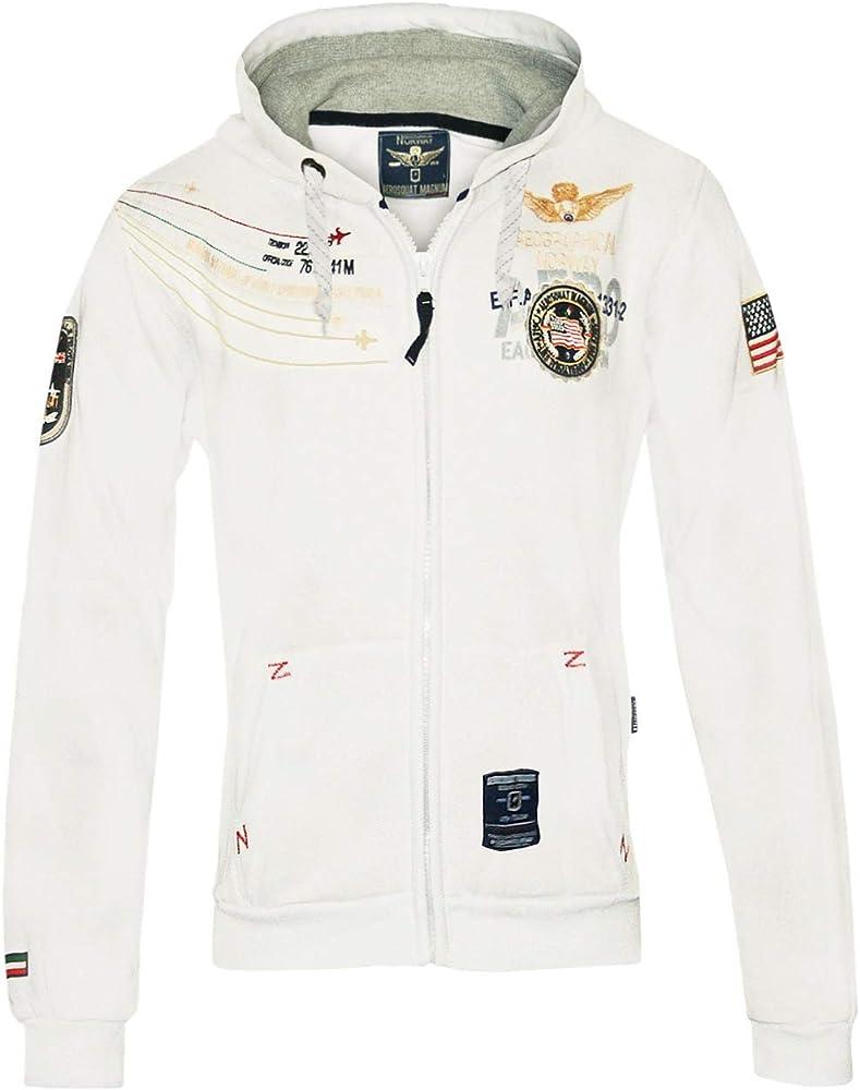 Geographical norway designer hoodie, felpa con cappuccio per uomo,65% cotone, 35% poliestere 26024