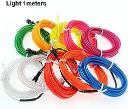 New 2/3/4/5M Car Interior Glow EL Wire LED Strip Light Rope 12V USB Auto Car Decor Light Set CSL2018 (Light 1 meters)