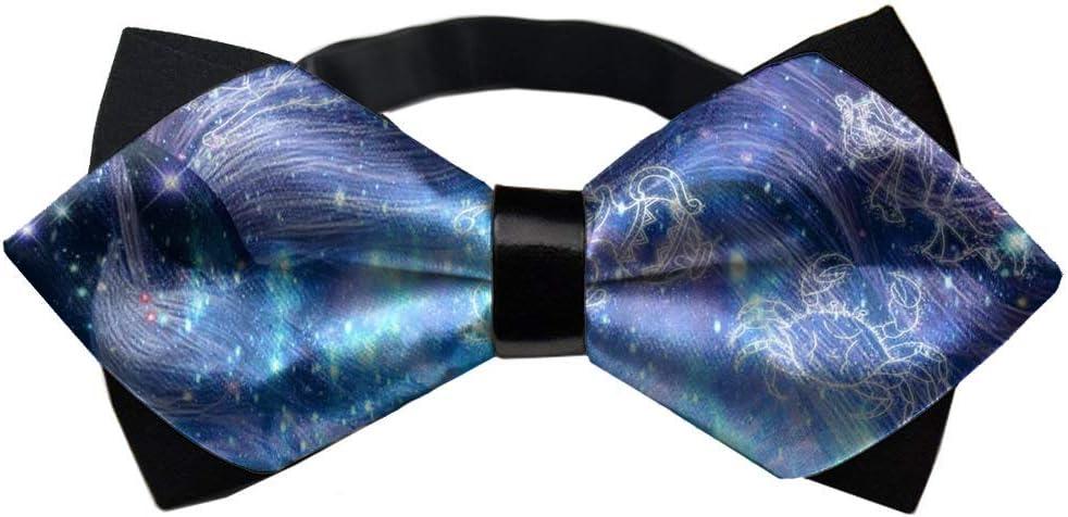 MrDecor Fish Crab Galaxy Bow tie pre-Tied Pattern Multi-Colors Unisex Shape