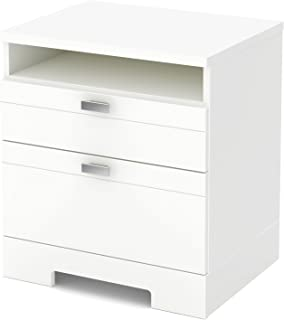 white contemporary bedside table
