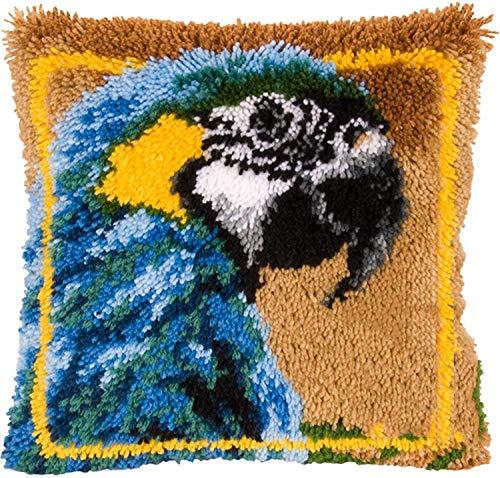 Lanrui Knüpfhaken-Set Verriegelungshaken Kits für DIY Knüpfkissen Wurfkissenbezug Reizende Papagei-Handarbeit Kissenbezug Handhandwerk Häkeln für tolle Familie 17''x17 '', b (Size : B)