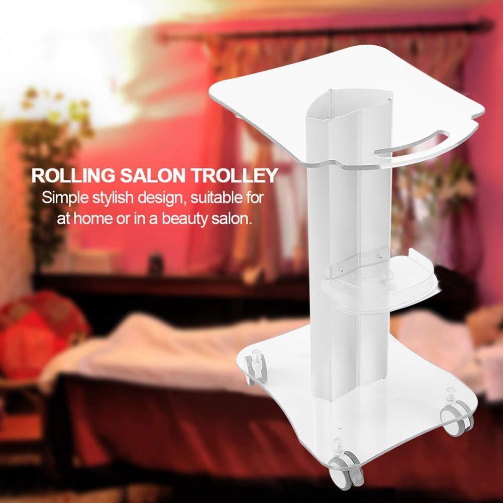 Tray Rolling Cart, Rolling Equipment Cart Beauty Rolling Salon Shelf Trolley, Plexiglass Trolley Cart Equipment Style Rolling Wheel Cart for Spa Small Bubbles Beauty instrument for Barber Shop Salon : Beauty & Personal Care