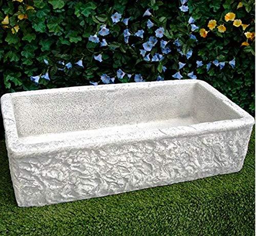 ARTISTICA GRANILLO Évier en béton, lavabo, fontaine, dimensions : 80 x 40 x 20 cm, gris