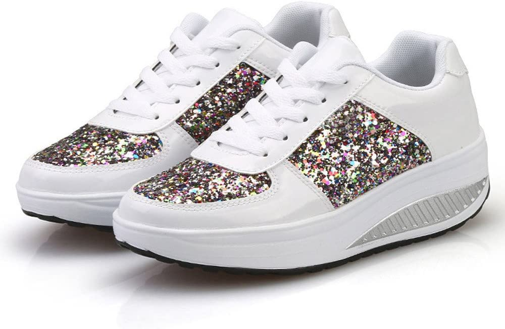 Women's Ladies Wedges Sneakers Sequins Excellence Girls Outlet sale feature Fashion Shoes Shake