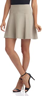 Women's Ease in to Comfort Wide Waist Flared Flippy Skirt Luxe Ponte