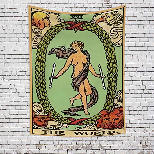 Tapiz bohemio Tapiz de poliéster puro Luo Pai Astrología Adivinación Mandala Fibra 2 Decoración de la pared de la cabecera Decora la vida del hogar 180x230cm / XL