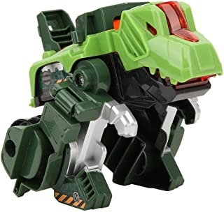 Dinosaur Deformation Toy, Inertial Pull Forword Car Vehicle Toy Model Kid Children Novelty Gift Dinosaur Figures Plastic Deformation Dinosaur Figures(Green)