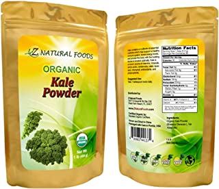 Organic Kale Powder - Green Superfood Supplement for Drinks, Juice, Shakes, Smoothies & Recipes - All Natural, Raw, Vegan,...