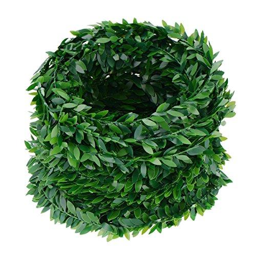 WINOMO Guirnalda de hiedra con hojas verdes de imitación de vid para bodas, fiestas, ceremonias, diademas de 7,5 m