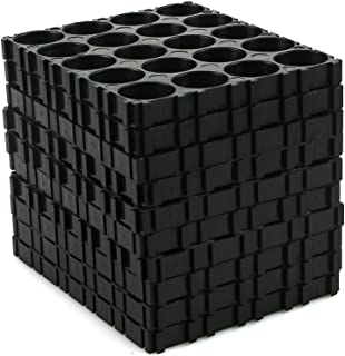 Wrisky 10Pcs 4x5 Cell Spacer 18650 Battery Radiating Shell Pack Plastic Heat Holder