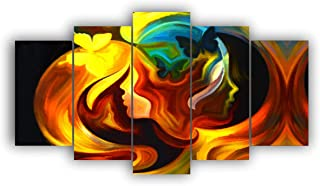 Alura Art N Frames Set Of 5' Beautiful Modern Wall Art Painting for Decorating Bedroom, Living Room, Drawing Room, Hall Re...