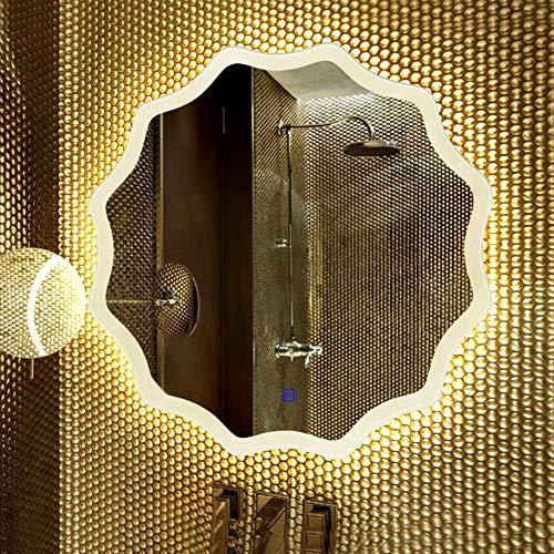 Miroir Mural Lumineux Espejo de baño_LED Espejo de baño Pared baño Espejo baño baño con luz Espejo Inteligente