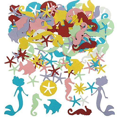 Shxstore Ocean Animal Theme Paper Confetti Sea Creature Shaped Confetti Wedding Baby Shower Birthday Table Confetti Party Supplies
