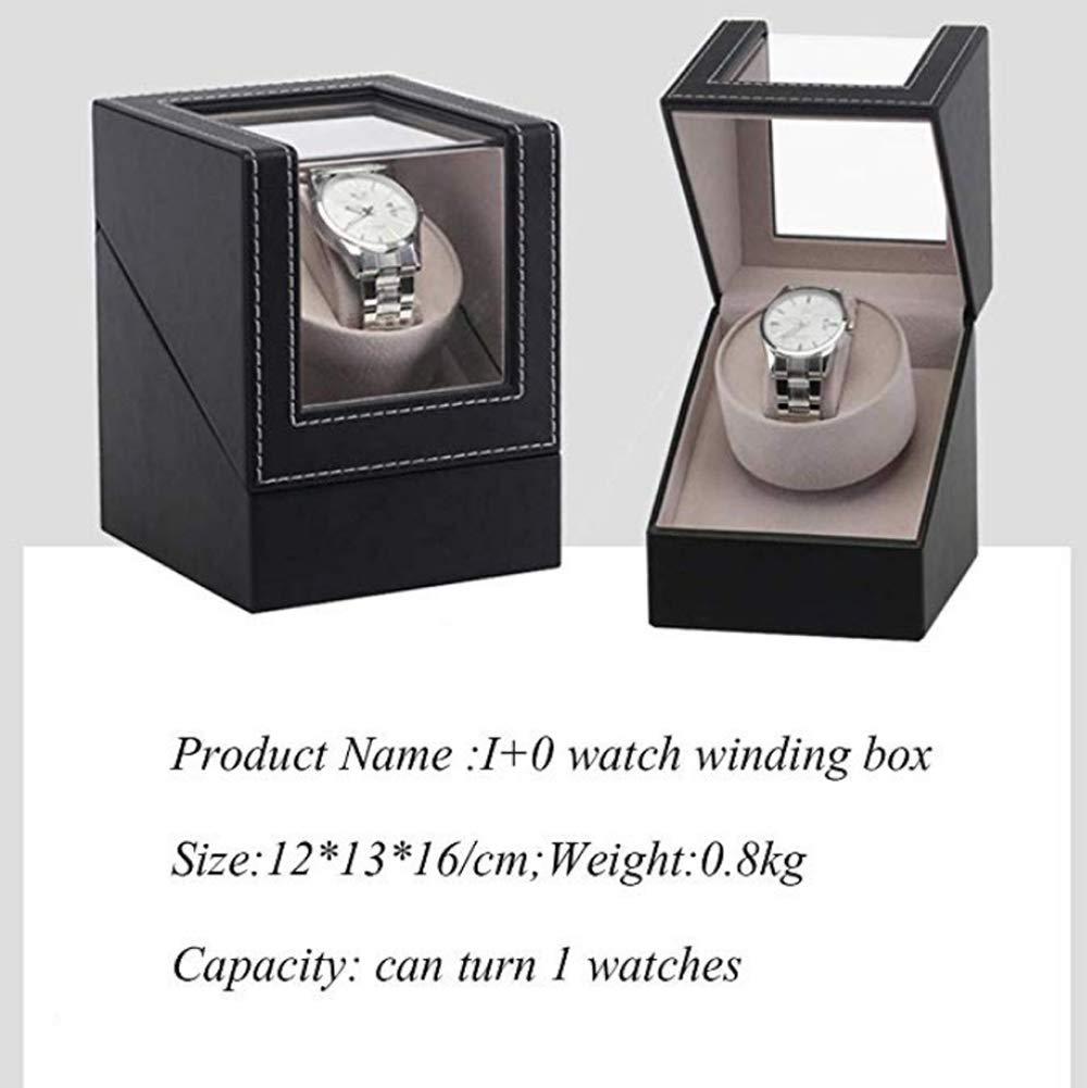 AWJ Automático Cajas giratorias Caja para 1 Reloj Reloj de Madera Caja de enrollador con Caja de exhibición de Soporte de Caja de Almacenamiento de Reloj de Motor silencioso,Sola Cabeza: Amazon.es: Deportes