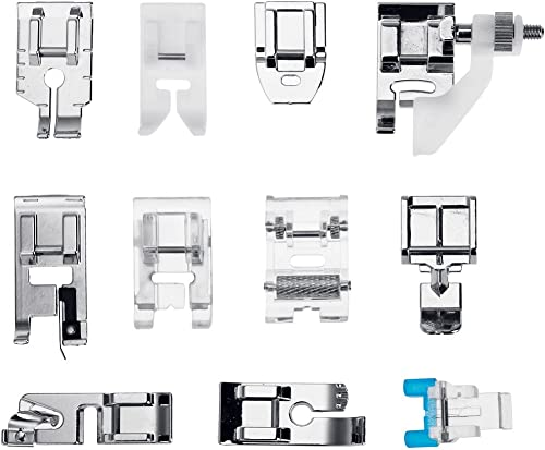 Faburo 11 Piezas Prensatelas Accesorios para Máquina de coser ...