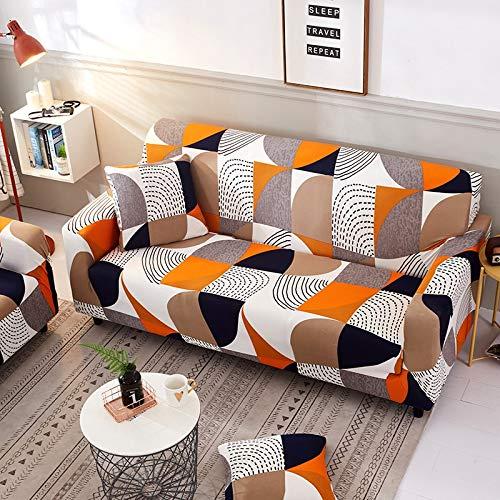 WXQY Funda de sofá elástica para Sala de Estar combinación de Funda de sofá de Esquina en Forma de L combinación de Funda de sofá Antideslizante Todo Incluido A7 4 plazas