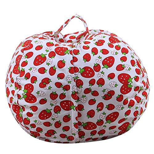 Almacenamiento Bolsa de Viaje Bolsa de Almacenamiento de Juguete de Animales de Peluche Bolsa de Frijoles Organizador de Juguetes para niños para Viajar (Color : Red, Size : 18inch)