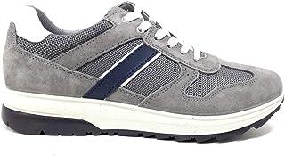 Imac 702000 Sneakers Estivi Scarpe Uomo Casual Vero Camoscio Mesh Grigio Blu