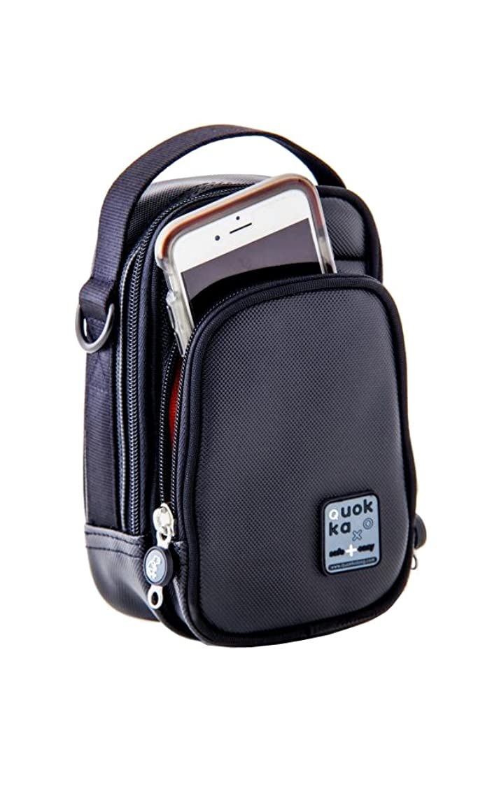 Quokka Small Vertical Wheelchair Bag (Black) and AD-1 Mount