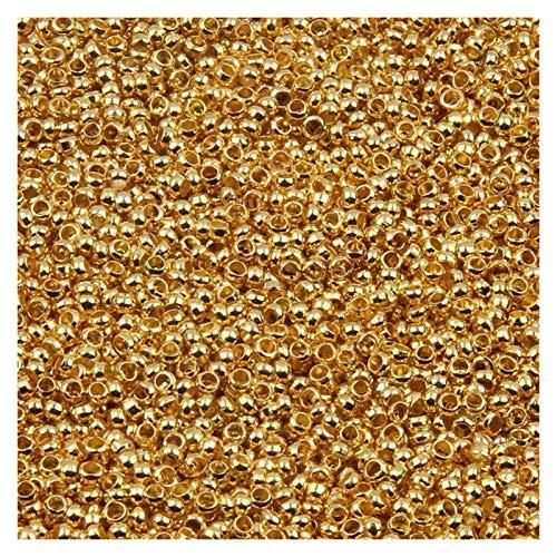 Producción de Bricolaje 500 unids/Bola de ródioma de Oro multicolina Perlas de engarce Dia 2 2.5 3 mm Junta de Enchufe, Usado para la joyería de Bricolaje Que Hace Accesorios para joyería, Artes y m