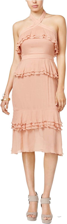 Endless pink Womens Ruffled Midi Dress