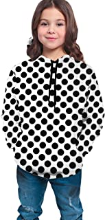 Cute Polka Dot Girls Boys Long Sleeves Hoodies Pullover Sweatshirt Slim Tunic Top Blouse