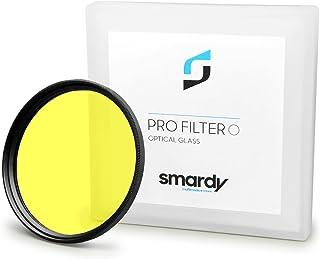 smardy Filtro de color amarillo 67 mm para Canon EOS 40D | 5D Mark III - Nikon D5100 | D7000 - Olympus E-30 y mucho más + High-Tech paño de limpieza