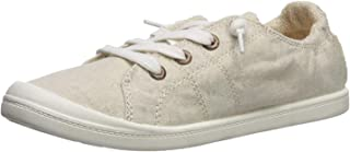 Snowchers Womens Distressed Canvas Sneaker Shoes Slip on Flats